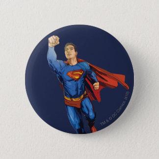 Superman Flying Left 6 Cm Round Badge