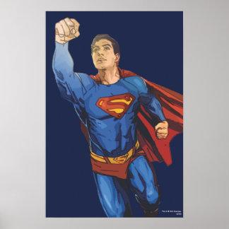 Superman Flying Left Poster