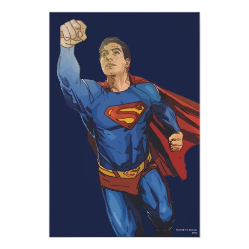 Superman Flying Left Posters
