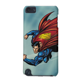 Superman flys with cape iPod touch (5th generation) cases