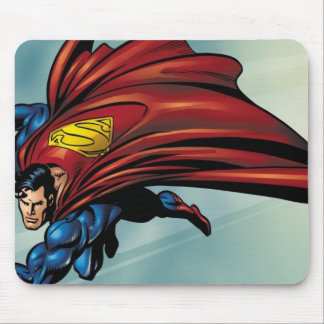 Superman flys with cape mouse mat