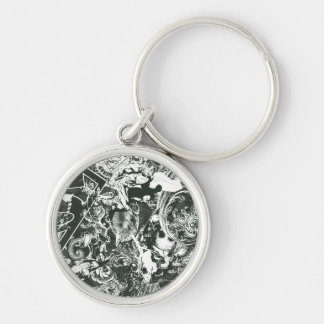 Superman Gray Collage Key Ring