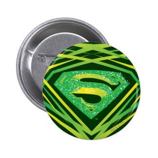 Superman Green Decorative Logo 6 Cm Round Badge