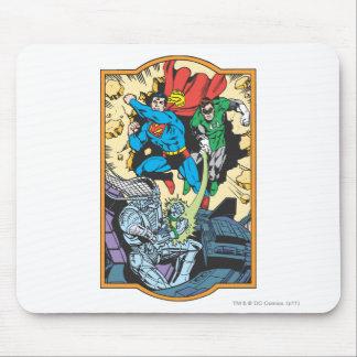 Superman & Green Lantern Fight Brainiac Mouse Pad