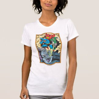 Superman & Green Lantern Fight Brainiac T Shirts