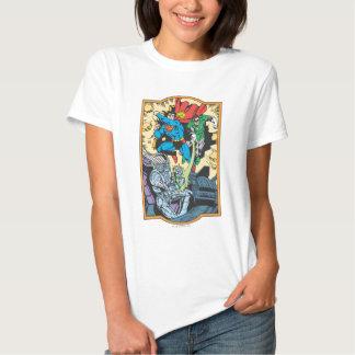 Superman & Green Lantern Fight Brainiac T-shirt