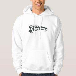 Superman   Grunge Letters Logo Hoodie
