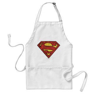 Superman Grunge Logo Adult Apron