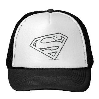 Superman Grunge Logo Mesh Hats