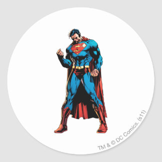 Superman  - Hand in fist Classic Round Sticker