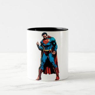 Superman  - Hand in fist Two-Tone Coffee Mug