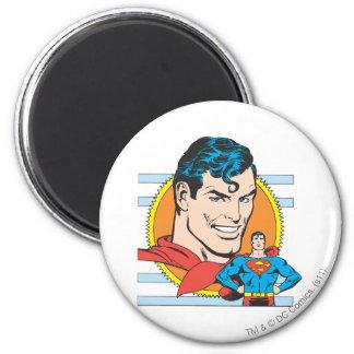 Superman Head Shot 6 Cm Round Magnet