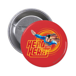 Superman Hero with Heart Button
