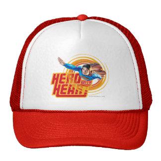 Superman Hero with Heart Mesh Hats