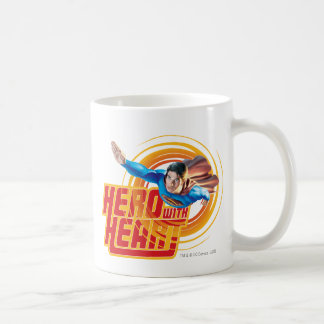 Superman Hero with Heart Coffee Mug