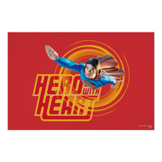 Superman Hero with Heart Poster