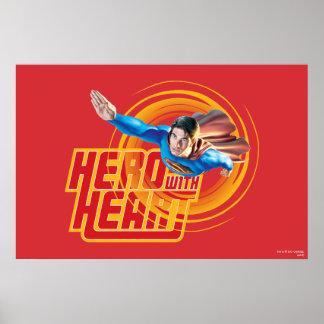 Superman Hero with Heart Print