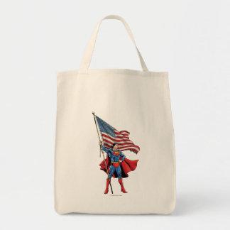 Superman Holding US Flag