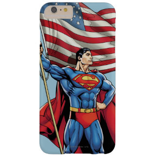 Superman Holding US Flag Barely There iPhone 6 Plus Case
