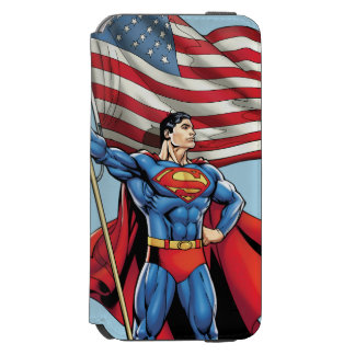 Superman Holding US Flag Incipio Watson™ iPhone 6 Wallet Case