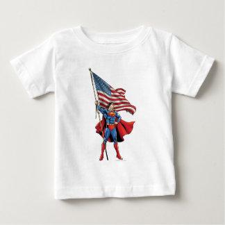 Superman Holding US Flag Infant T-Shirt