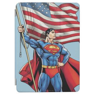 Superman Holding US Flag iPad Air Cover