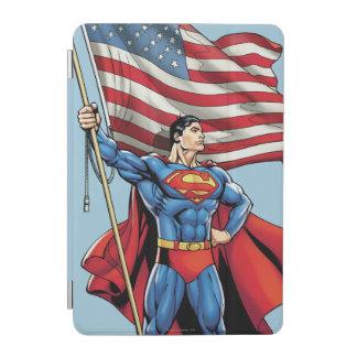 Superman Holding US Flag iPad Mini Cover