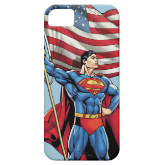 Superman Holding US Flag iPhone 5 Cover