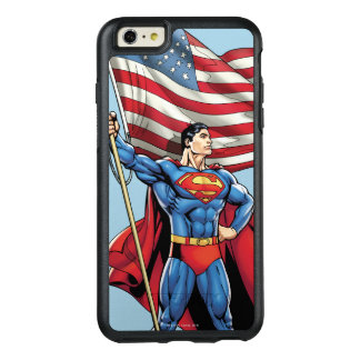Superman Holding US Flag OtterBox iPhone 6/6s Plus Case