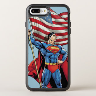 Superman Holding US Flag OtterBox Symmetry iPhone 7 Plus Case