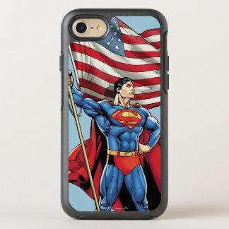 Superman Holding US Flag OtterBox Symmetry iPhone 8/7 Case