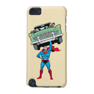 Superman holds a car iPod touch 5G cases