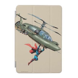 Superman holds helicopter iPad mini cover