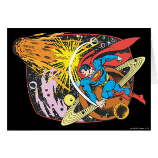 Superman in Space Card