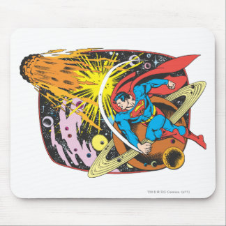 Superman in Space Mouse Pad