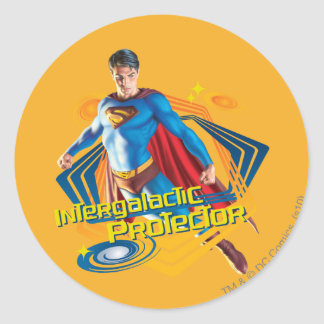 Superman Intergalactic Protector Classic Round Sticker