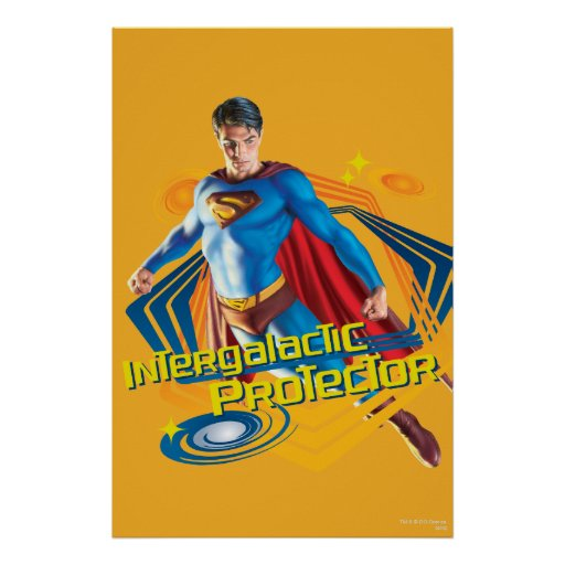 Superman Intergalactic Protector Print