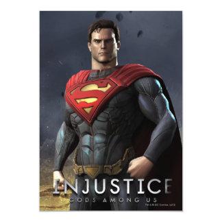 Superman 5x7 Paper Invitation Card