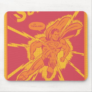Superman is struck by lightening mouse pad
