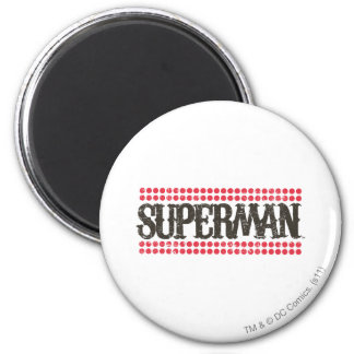 Superman | Its Showtime Letters Logo 6 Cm Round Magnet