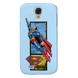 Superman jumps up with logo galaxy s4 case