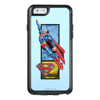 Superman jumps up with logo OtterBox iPhone 6/6s case