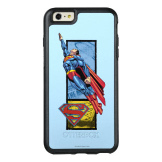 Superman jumps up with logo OtterBox iPhone 6/6s plus case