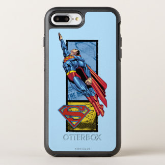 Superman jumps up with logo OtterBox symmetry iPhone 7 plus case