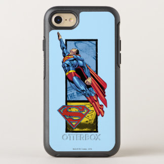 Superman jumps up with logo OtterBox symmetry iPhone 8/7 case