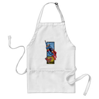 Superman jumps up with logo standard apron