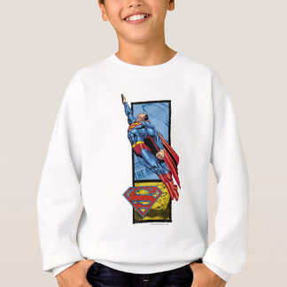 Superman jumps up with logo sweatshirt