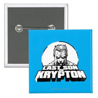 Superman Last Son of Krypton 15 Cm Square Badge