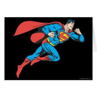 Superman Leaps Right Card