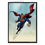 Superman leaps upward greeting card